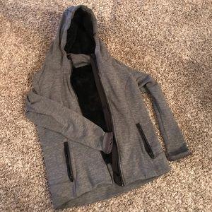 Grey full zip hoodie